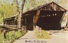 COVERED BRIDGE POSTCARD � TRUMBULL COUNTY OHIO COVERED BRIDGE