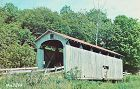 COVERED BRIDGE POSTCARD ROOT BRIDGE OHIO COVERED BRIDGE #8