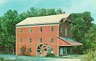 COVERED BRIDGE POSTCARD CARROLL COUNTY WATER POWER MILL