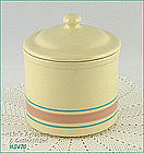 McCOY POTTERY � RARE SIZE PINK AND BLUE CONTAINER