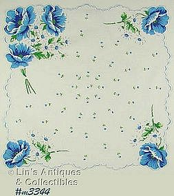 BLUE POPPIES HANDKERCHIEF