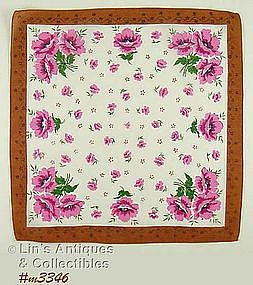 PINK POPPIES HANDKERCHIEF