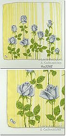 GRAY ROSES HANDKERCHIEF BY BURMEL