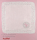 MADEIRA MONOGRAMMED �H� HANDKERCHIEF WITH SPECIAL EDGE