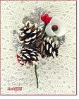 VINTAGE CHRISTMAS CORSAGE WITH PINE CONES HOLLY BERRIES BELL AND MORE