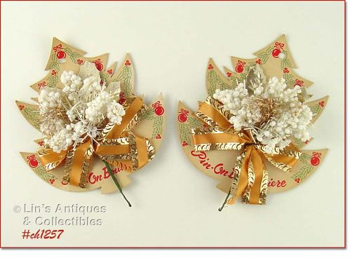 VINTAGE CHRISTMAS CORSAGE FROM F W WOOLWORTH COMPANY
