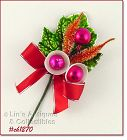 VINTAGE CHRISTMAS CORSAGE WITH BELLS AND GREENERY