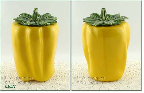 McCOY POTTERY � YELLOW PEPPER COOKIE JAR