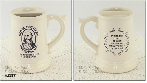 McCOY POTTERY YOUR FATHER�S MUSTACHE BOURBON STREET VINTAGE STEIN