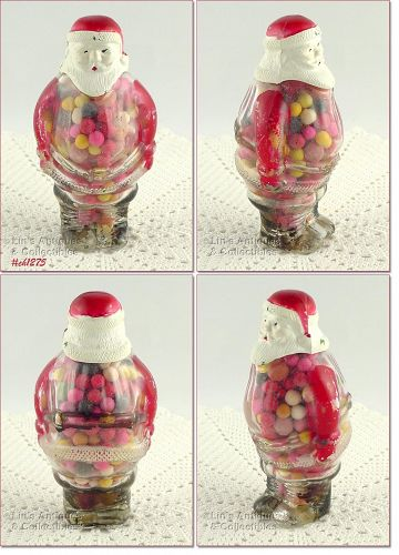 SANTA CLAUS CANDY CONTAINER WITH PLASTIC HEAD
