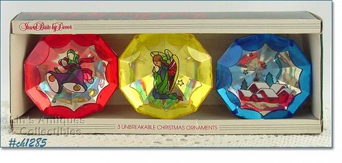 3 JEWEL BRITE ORNAMENTS IN ORIGINAL BOX