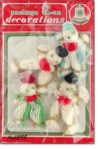VINTAGE PACKAGE TIE-ON DECORATIONS MINT IN ORIGINAL PACKAGE
