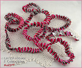 SILVER AND PINK COLOR FOIL ROPING / GARLAND