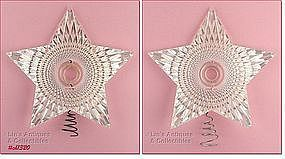 HARD PLASTIC STAR SHAPED TREE TOPPER (2 AVAILABLE)