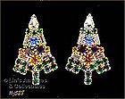 EISENBERG ICE � �CANDLE� CHRISTMAS TREE EARRINGS