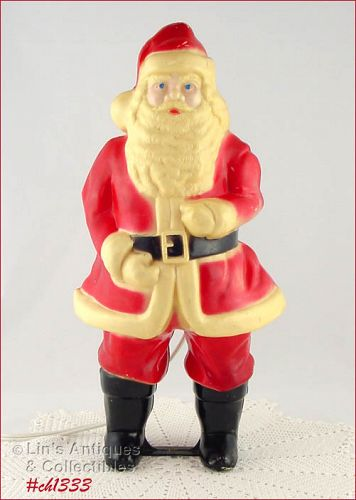 VINTAGE HARD PLASTIC ELECTRICAL LIGHTED CHRISTMAS SANTA