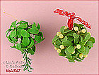 TWO MISTLETOE �KISSING� BALLS