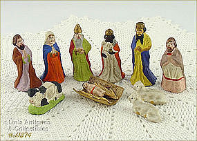 SMALL VINTAGE NATIVITY FIGURES FROM GERMANY