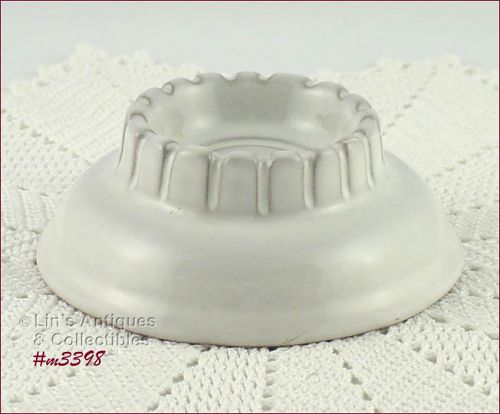 FRANKOMA POTTERY VINTAGE WHITE SAND CANDLE HOLDER