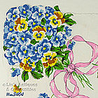 PANSY BOUQUET HANDKERCHIEF
