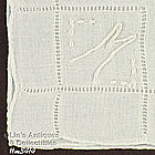 PAIR OF �M� MONOGRAM HANDKERCHIEFS