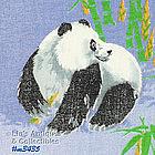 THREE PANDAS HANDKERCHIEF