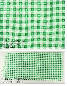 GREEN AND WHITE CHECK VINTAGE FEEDSACK FEED SACK