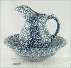 McCOY POTTERY � BLUE COUNTRY PITCHER AND BOWL