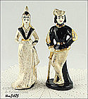 LEFTON � LADY AND KNIGHT FIGURINES