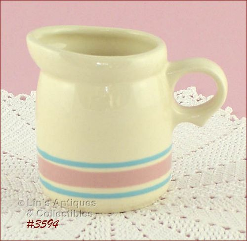 McCOY POTTERY � PINK AND BLUE CREAMER