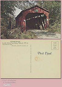 POSTCARD � CRAPLE COVERED BRIDGE, PUTNAM CO, INDIANA