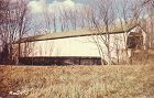 COVERED BRIDGE POSTCARD � BLACK BRIDGE, PUTNAM CO, INDIANA