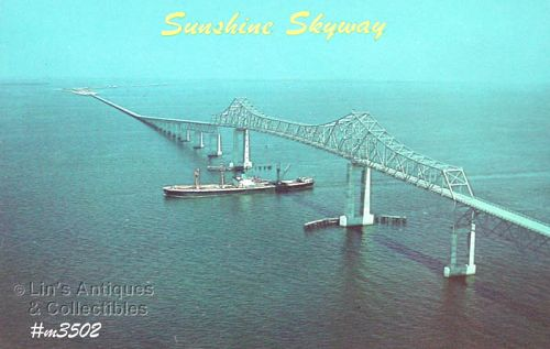 VINTAGE POST CARD � SUNSHINE SKYWAY, FLORIDA