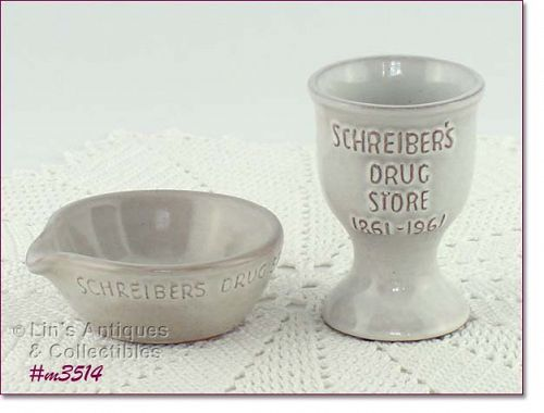 FRANKOMA POTTERY VINTAGE SHREIBER�S DRUG STORE 100 YEARS COMMEMORATIVE