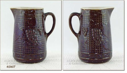 McCOY POTTERY � GRAPE PITCHER (STONEWARE)