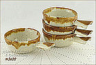 McCOY POTTERY � GRAYSTONE INDIVIDUAL CASSEROLES (4)