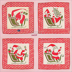 TAMMIS KEEFE CHRISTMAS COCKTAIL NAPKINS (8 � MIB!!)