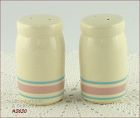 McCOY POTTERY � STONECRAFT PINK AND BLUE DINNERWARE LINE SHAKER SET