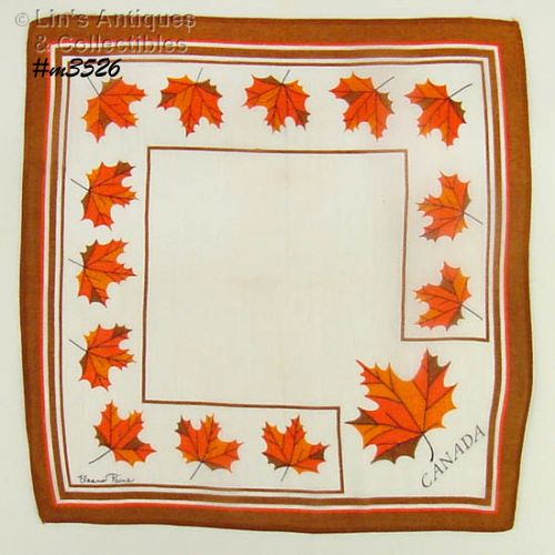SOUVENIR HANDKERCHIEF, CANADA (2 AVAILABLE)