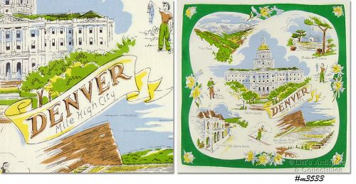 CITY SOUVENIR HANDKERCHIEF, �DENVER, MILE HIGH CITY�