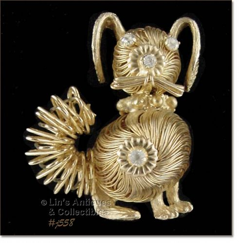 WEISS � FIGURAL PIN SHAPED LIKE A DOG