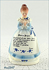 ENESCO � PRAYER LADY NAPKIN HOLDER (BLUE DRESS)