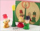 GURLEY CANDLE � VINTAGE CAROLER CANDLE SET IN THE ORIGINAL BOX