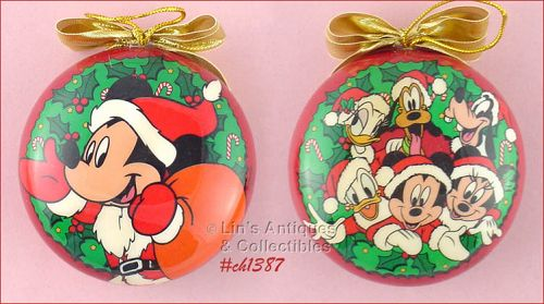 SET OF 2 ENESCO MICKEY UNLIMITED ORNAMENTS IN ORIGINAL BOXES