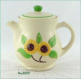 SHAWNEE POTTERY � SUNFLOWER LINE COFFEE POT / SERVER