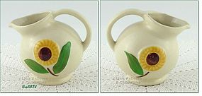 SHAWNEE POTTERY � SUNFLOWER LINE BALL SHAPED CREAMER