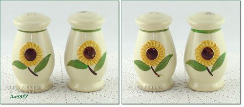 SHAWNEE POTTERY VINTAGE SUNFLOWER LINE SHAKER SET
