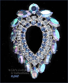 SARAH COVENTRY � BLUE RHINESTONES PIN