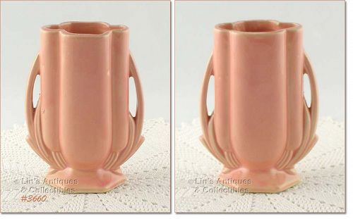 McCOY POTTERY � PEACH COLOR VASE (5 ½�)