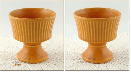 McCOY POTTERY � FLORALINE PLANTER (PUMPKIN COLOR)